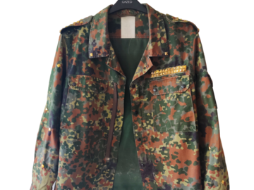 Selling with online payment: Military Jacket Upcycled Print Snake Unisex