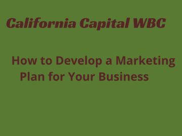 Announcement: How to Develop A Marketing Plan for Your Business