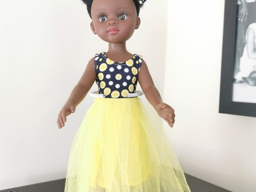 For Sale: Black doll with yellow outfit