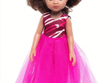 For Sale: Mixed race doll with pink outfit