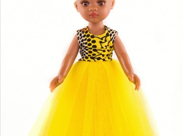 For Sale: Mixed race doll with yellow outfit