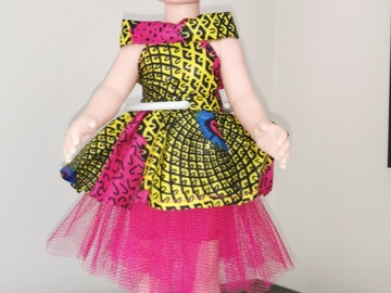For Sale: Albino doll with pink outfit