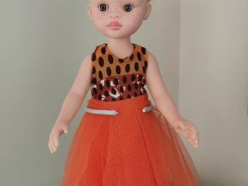 For Sale: Albino doll with orange outfit