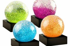 Buy Now: Set Of 4 – Jewel Mini Set Snow Globes By CoolSnowGlobes
