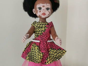 For Sale: Vitiligo doll with pink outfit