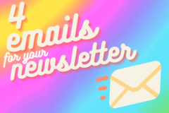 Offering online services: I'll create 4 branded emails for your email list!