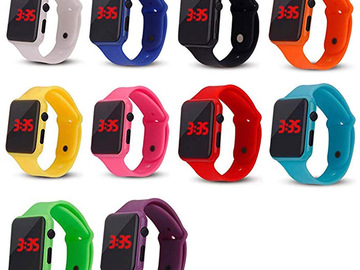 Buy Now: 20 Pack Unisex Teen Led Silicone Wrist Watches