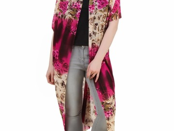 Buy Now: Lot 25 Women's Pink Floral Cover Up Long Cardigans Magic Wrap