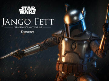 Stores: Sideshow Star Wars Jango Fett Premium Format Regular Version-New-