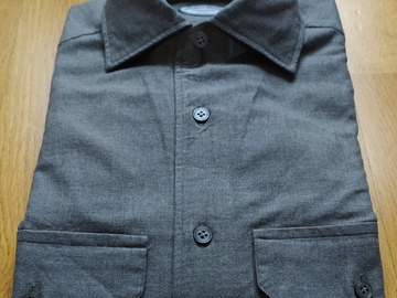 Online payment: BNWT Vicenzo di Ruggiero flannel shirt size 39 UK15,5