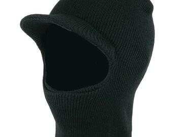 Buy Now: 36 Winter One Hole Ski Mask Beanie Hat With Visor – Unisex