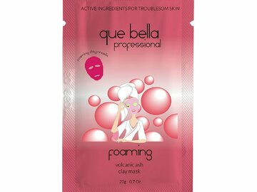 Buy Now: 72 Packets -Que Bella Foaming Volcanic Ash Clay Sheet Mask 0.5oz