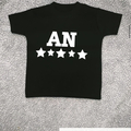 For Sale: Personalised Five Star Initial T-shirt
