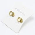 Liquidation/Wholesale Lot: Dozen New Gold Stainless Steel Stud Earrings #E1350