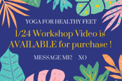 "Event: ""Yoga For Healthy Feet"" - Zoom RECORDING (45 min)"