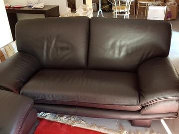Vente: Canapé Roche Bobois en cuir noir