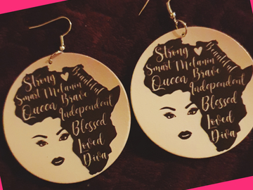 For Sale: Affirmation Crown Earrings