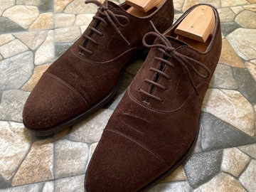 Selling with online payment: Edward Green Mink Suede Oxfords
