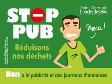 Actualité: Stop Pub - à savoir depuis ce 1er janvier 2021