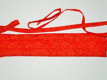 Vente au détail: Bouillotte sèche - bandeau rouge feuillu - modèle h/f
