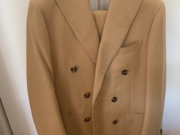 Selling with online payment: Suitsupply Double Breasted Camel Suit, S120 Wool