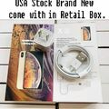 Liquidation/Wholesale Lot: Generic 2-in-1 Wall Adapter & Cable Sets for iPhone Max, XR & X,