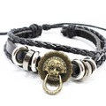 Liquidation/Wholesale Lot: Dozen Mens Faux Leather Bracelets B2060