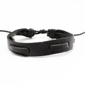 Liquidation/Wholesale Lot: Dozen Mens Faux Leather Bracelets B2070