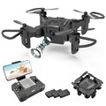 Liquidation/Wholesale Lot: 1 Mini Drone W/720p 4D RC Foldable Live Video Quadcopter