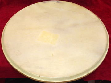 Selling with online payment: Vintage 1920-40s LUDWIG  cow logo calf bass drum head 22""