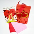 Liquidation/Wholesale Lot: Assorted Valentine's Day 10″ Gift Bag Sets – Only $1.75/Set