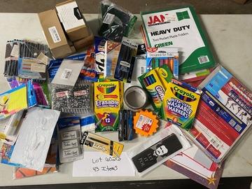 Liquidation/Wholesale Lot: 43 PC Mixed Office Crafts School Lot 6026