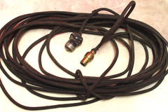 Selling with online payment: 1910-40s original light bulb cord for painted scene heads