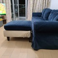 Selling with online payment: Living room sofa with foot rest, comfy, great condition