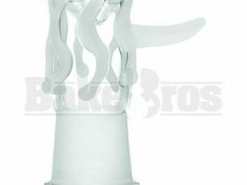 Post Now: Dome Cylinder Dripping Glass With Handle Ivory White 14mm