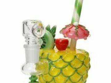 """Post Now: Empire Glassworks """"Pineapple Paradise"""" Water Pipe"""