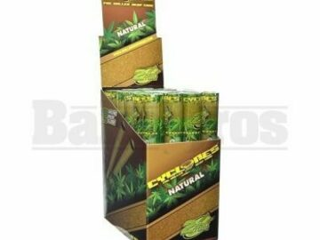 Post Now: Cyclones Pre Rolled Hemp Cones 2 Per Tube Natural Pack Of 24