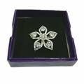 Liquidation/Wholesale Lot:  Silver Star Brooch With Shiny Diamond Like Stones – Item #4398