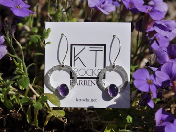 Selling with online payment: Amethyst Sterling Silver Earrings