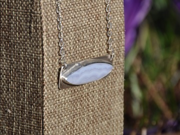 Selling with online payment: Chalcedony Sterling Silver Pendant