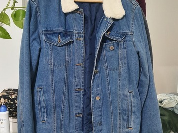 Selling with online payment: Mango jeans jacket with collar