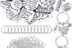 Liquidation/Wholesale Lot: 259 Pc Motivational Keychain DIY Set
