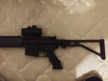 Selling: G300 m4 with simmons adjustable red dot scope and folding stock