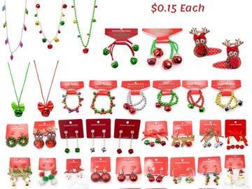 Liquidation/Wholesale Lot: 7000 Pieces of handmade Christmas Jewelry. $0.15 Each
