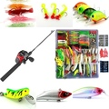 Liquidation/Wholesale Lot: 320 Pc Fishing Kit Everything you Need
