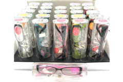 Liquidation/Wholesale Lot: 50 Fashion Womens Reader Glasses -Excellent Quality- w/Display