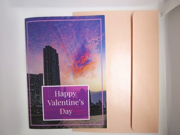 : Valentines Day Card ( A Heart Shaped Cloud Over The City)