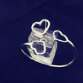 Selling with online payment: Sterling Silver Hearts Bracelet + Ring Set