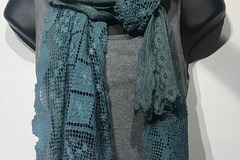 Selling with online payment: Hand Dyed Vintage Crochet Seafoam