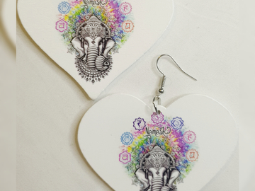 For Sale: Namaste Chakra Earrings
